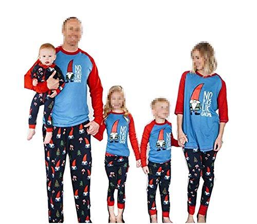 Pijamas Dos Piezas Familiares de Navidad, Conjuntos Navideños de Algodón para Mujeres Hombres Niño Bebé, Ropa para Dormir Verano Otoño Invierno Sudadera Chándal Suéter de Navidad-Hombre