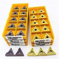 超硬インサート TNMG160404R TNMG160404R ES VP15TF UE6020 US735高品質の炭化物外側旋削工具TNMG 160404金属旋盤部品旋盤ツール (Angle : TNMG160404R ESVP15TF, Shank Diameter : 10PCS)