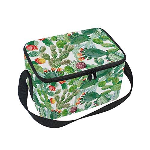 Ahomy Lunchbox Kaktus, Bunte Blumen, isolierte Lunch-Tasche, Kühltasche für Outdoor, Schule, Büro, Lunchboxen