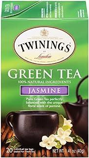 Twining Tea Tea Grnジャスミン、20BG、pk- 6