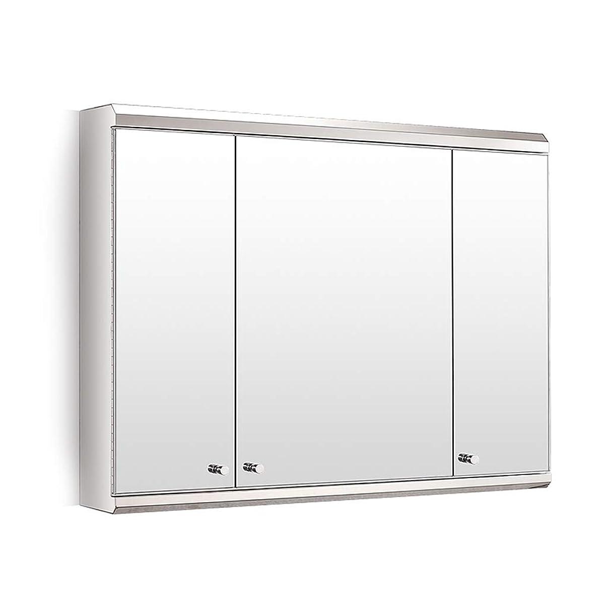 模倣楕円形唯一浴室用キャビネット バスルーム用ミラーキャビネットバスルーム用収納キャビネットバスルーム用ウォールキャビネットスペースアルミ 80*55cm