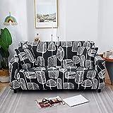 WXQY Chaise Longue Sala de Estar impresión Funda de sofá elástico Spandex Todo Incluido Estilo Moderno Funda de sofá Funda de sofá A10 1 Plaza