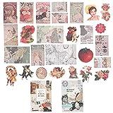 109 hojas de papel de álbum de recortes vintage (diario de París y poesía barroca) adhesivo...