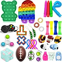 35 Pcs Fidget Toys Set, Sensory Fidget Toys Pack, Popular Fidget Toys Set Sensory Fidget Toys for Kids Adults,Stress...