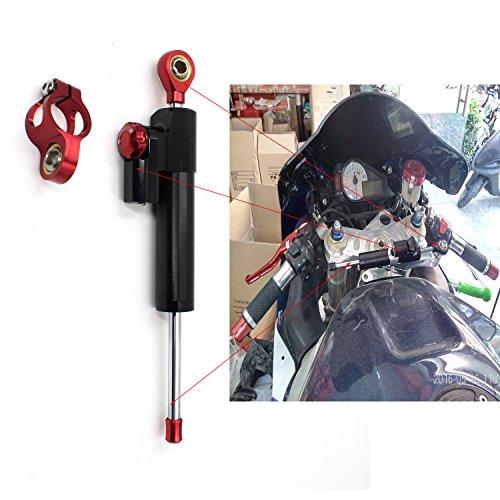 CNC Motorrad dämpfer Stoßdämpfer für Motorrad Fahrrad Lastenrad BMW Honda suzuki kawasaki yamaha aprilia triumph Länge 255MM schwarz&Rot