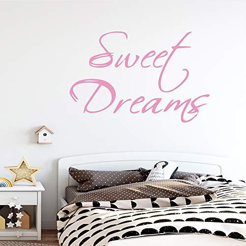 Süßer Traum Zitat Hauptdekoration Wandkunst Aufkleber Mädchen Zimmer Schlafzimmer Aufkleber 43 * 66 cm