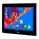 WOXTER TB26-277 - Tableta de 11.6' (Intel Atom Z3700, 2GB RAM, 32 GB Memoria Interna, Windows 10/Android 5.1) Negro y Rosa