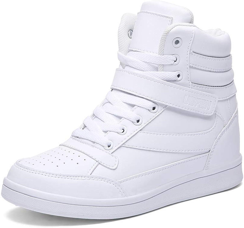 ZHRUI Frauen Schuhe Weiche Mode Herbst und Winter Frauen Schneeschuhe Weibliche Erhhung der Hhe Komfortable Lssige Schuhe (Farbe   18-599Weiß, Gre   6 UK)