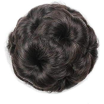 Pema Hair Extensions And Wigs Natural Hair Bun (Brown)