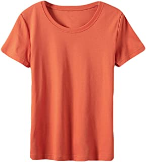 MK988 Women's Slim Fit Solid V-Neck Short Sleeve T-Shirt Tops Blouse