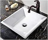 VCCUCINE Vessel Sink, White Square 16.54