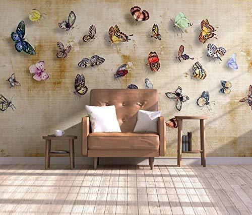 Wandbehang voor woonkamer slaapkamer muur Europees handgeschilderd bloemen vlinders en vogels olieverfschilderij achtergrond 3D_El 150 x 105 cm