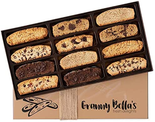 Granny Bella s Gourmet Christmas Homemade 12 Biscotti Gift Baskets Prime Italian Cookies Corporate product image