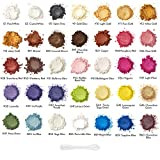 Arteza Mica Powder for Epoxy Resin, 35 Colors, 0.35 oz Bottles, for Soap Making, Nail Polish, Bath Bombs, Candle & Slime Making