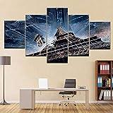 Fantástica película de Ciencia ficción Espacial 5 Paneles HD Imprimir póster de Pared Moderno Lienzo Pintura de Arte para la decoración de la Sala de Estar del hogar