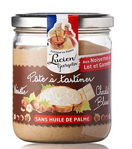 Pâte à tartiner Noisette du Lot et Garonne et Chocolat BLANC 400g