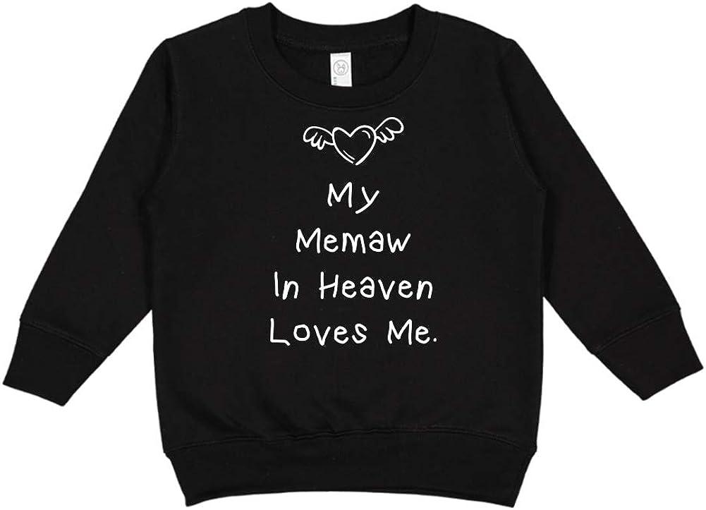 Toddler//Kids Sweatshirt My Memaw in Heaven Loves Me