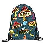 Mochila con cordón para gimnasio, diseño de pájaro, dibujado a mano, con diseño colorido, diseño de flor, alegre, mochila para escuela, deportes, viajes, mujeres, niños, regalo de cumpleaños