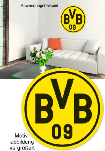 Alenio Wandtattoo - Borussia Dortmund Logo - 20x20 cm