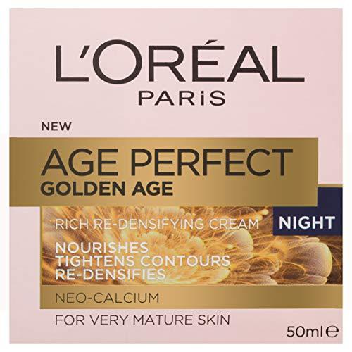 L'Oréal Paris Golden Age Rich Re-Densifying Night Cream for Mature Skin, with Neo-Calcium, 50ml
