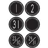 Teacher Created Resources Calendar Days, Black/White Crazy Circles (4878)