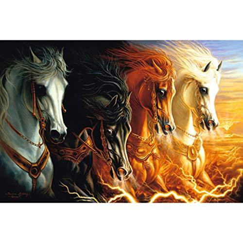 Horse Art puzzel 500/1000/1500/2000/3000/4000/5000/6000 stuks, houten puzzel Home Decoration, educatief speelgoed Games voor volwassenen en kinderen,4000PCS