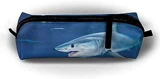 Shark Sea Blue Pencils Pouch Makeup Office Zipper