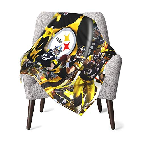 Pfnjfang Lovely Pittsburgh Steeler Super Soft Baby Plush Blanket, Lightweight and Breathable Newborn Toddler Blanket, Unisex Comfortable Warm Blanket, 30 x 40 inches