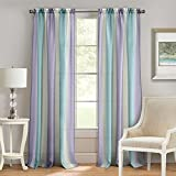 Achim Home Furnishings Spectrum Rod Pocket Window Curtain Panel 50' x 63' Lilac/Turquoise