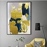 Arte de pared de lienzo 40x60cm sin marco estilo nórdico dorado abstracto imagen artística de pared dorada para sala de estar comedor decoración del hogar