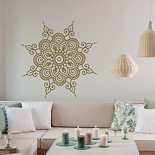 Mandala pegatinas de pared Mandala pegatinas de arte de pared Bohemia decoración de dormitorio marroquí pegatinas de pared de Yoga indio A8 42x42cm