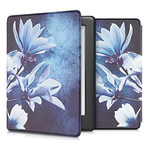 kwmobile Carcasa Compatible con Kobo GLO HD Touch 2.0 - Funda para Libro electrónico con Solapa - Magnolia