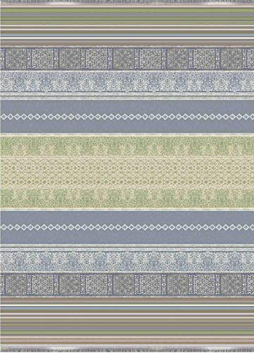 Bassetti 9311137 Jacquard Plaid Italiana In Algeri G1 grau 140 x 190 cm, grau-g1, 140x190 cm
