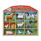 Melissa & Doug Farm Friends Collectible Toy Animal Figures (10 pcs)
