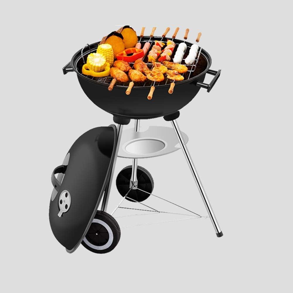 YF Barbecue à Charbon Grill, Cour arrière Cuisine, Camping Barbecue Grill, Barbecue Grill Charbon Portable Outils de Barbecue (Color : Black) Black