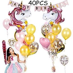 Globos cumpleaños 1 año niña de primer de color rosa para ...