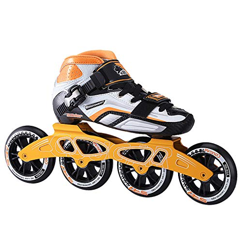 New TTYY Speed-Skating-Shoes-Roller Four-Wheels Blading-Skates Professional Adult/Children Orange EU...