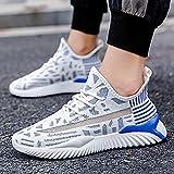 Fnho Calzado para Correr por Carretera,Zapatos de Gimnasia Zapatos Ligeros,Zapatillas de Deporte Casuales de Colores de Color, Zapatillas de Running de Tendencia-Blue_42