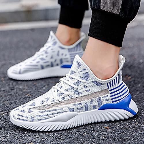 Fnho Zapatillas Deportivas para Correr,Zapatos Deportivos para Correr,Zapatillas de Deporte Casuales de Colores de Color, Zapatillas de Running de Tendencia-Blue_40