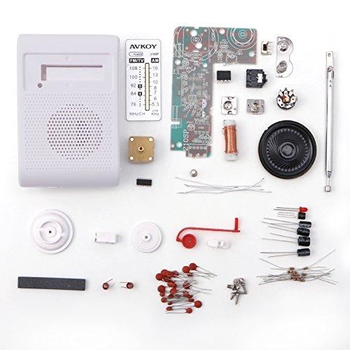 smallJUN CF210SP Kit de Radio estéreo Am/FM DIY Kit de ensamblaje electrónico para Kit de Radio de Aprendizaje