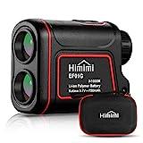 Himimi Télémètre Golf 1100 Yards / 1000m, Télémètre Chasse Professionnel 6X/7X Grossissement, Charge USB et IP54 pour Verrouillage de Mât, Mesure de Distance, Vitesse, Altitude, Inclinaison