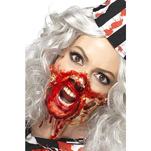 Smiffys 46227 - Horror Zombie Make-Up Set, 4 Liquid Latex Töpfe und 4 Schaum Pinsel, bunt