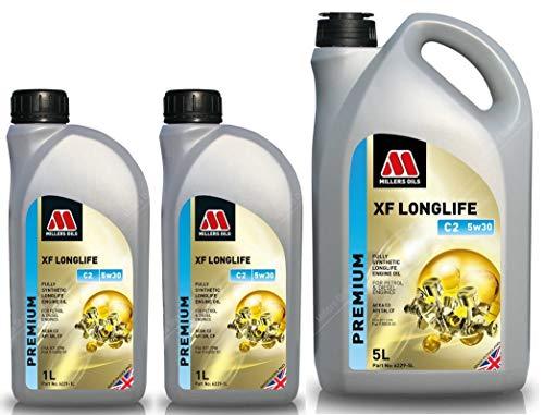Millers Oils XF Longlife 5w30 C2 SN motorolie, 7 liter