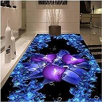 Lcymt 床壁画3D現代美術絵画寝室リビングルームバスルームPvc自己粘着性防水壁紙-120X100Cm