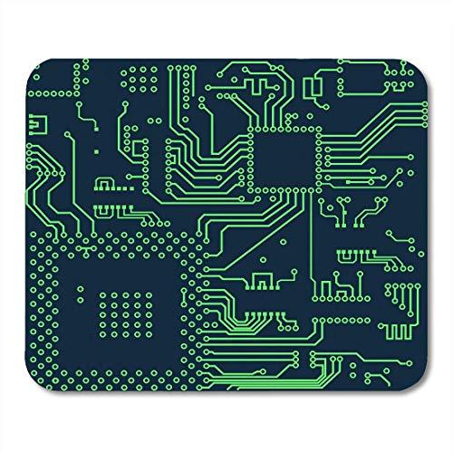 AOHOT Mauspads Green Pattern High Tech Circuit Board Computer Microchip Inside Mouse pad 9.5