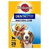 PEDIGREE Pack de 28 Dentastix de Uso Diario para La Limpieza Dental de Perros Medianos 784 g - Pack de 4