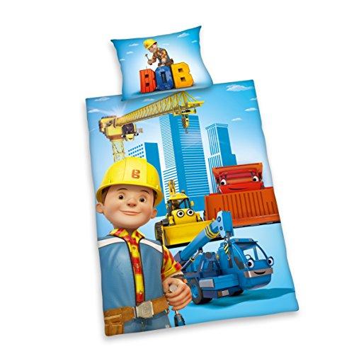 Herding Bob der Baumeister Kinder Bettwäsche 40 x 60 cm 100 x 135 cm 100% Baumwolle