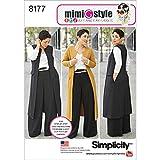 Simplicity Muster 8177Mimi G Stil Hosen-, Mantel oder Weste, und Knit Top für Miss und Plus Größen, weiß