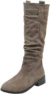 Zanpa Women Casual Knee Boots Low Heels