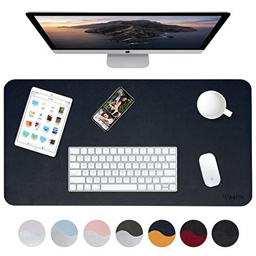 Weelth Gaming Mousepad, große wasserbeständige Büromatte und doppelseitiger Antirutschschutz für Computer und Laptop (Blau/Gelb, 900 * 450mm)